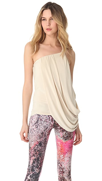 MISA Draped One Shoulder Top