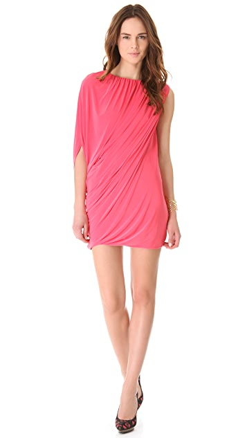 MISA Asymmetrical Mini Dress