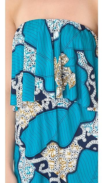 MISA Strapless Ruffle Dress