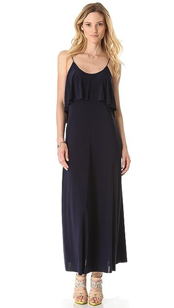 MISA Open Back Maxi Dress