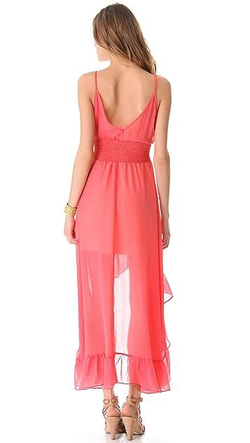 MISA Hi Lo Ruffle Dress