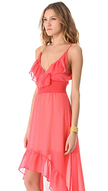MISA Hi Lo Ruffle Dress