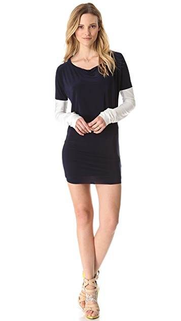 MISA Contrast Sleeve Dress