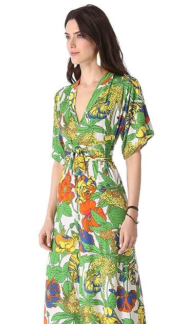 MISA Tie Waist Maxi Dress