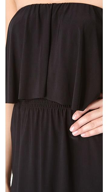 MISA Strapless Tiered Dress