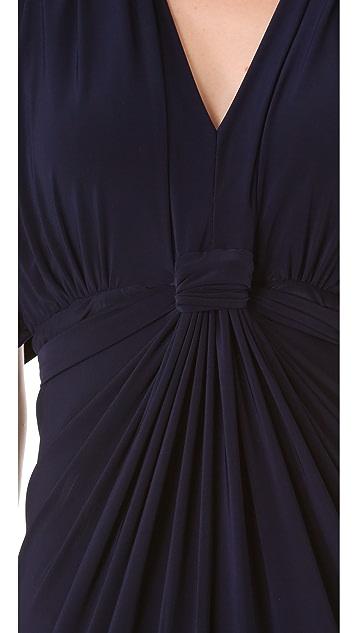 MISA Draped Maxi Dress