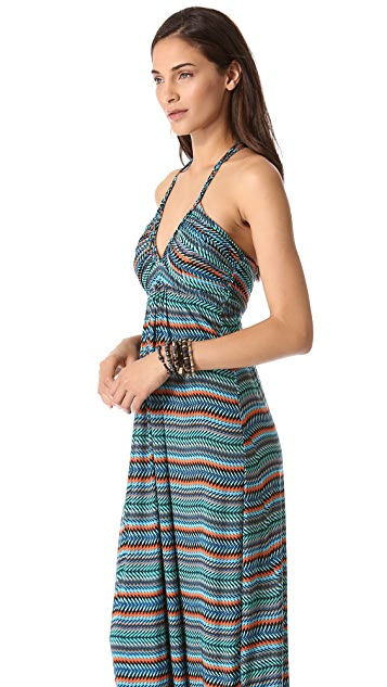 MISA Braided Back Maxi Dress