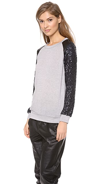 MISA Sequin Sleeve Sweater
