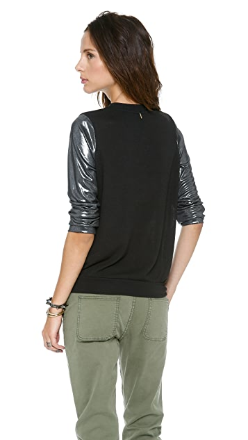 MISA Metallic Sleeves Sweater