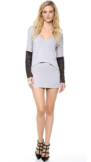 MISA Overlay Sweater Dress