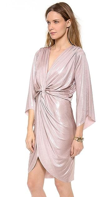 MISA Petra Metallic Twist Front Dress
