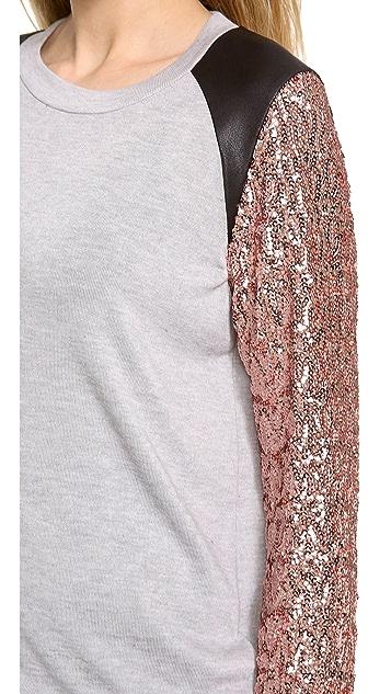 MISA Sequin Sleeve Top