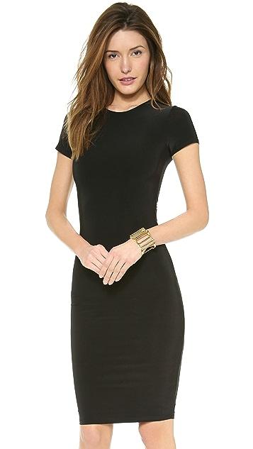 MISA Short Sleeve Open Back Dress
