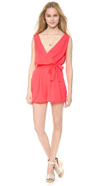 MISA V Neck Romper with Tie