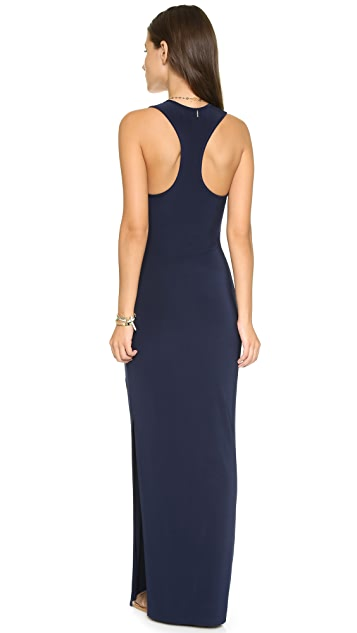 MISA Racer Back Maxi Dress with Slit