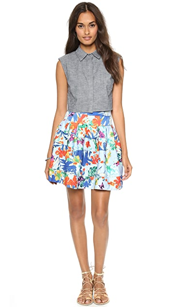 MISA Drop Waist Full Skirt