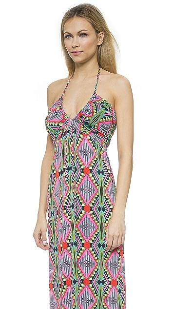 MISA V Neck Maxi Dress