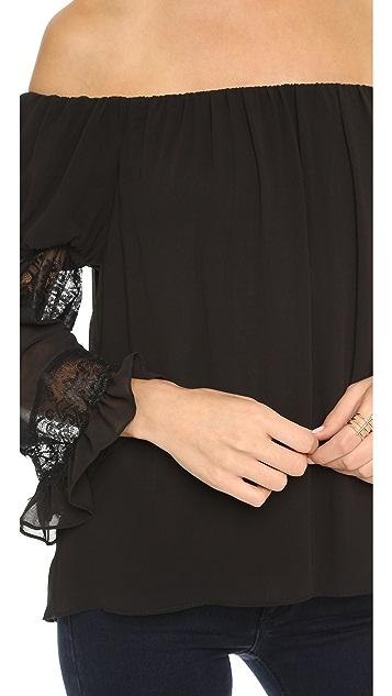 MISA Ruffle Sleeve Blouse