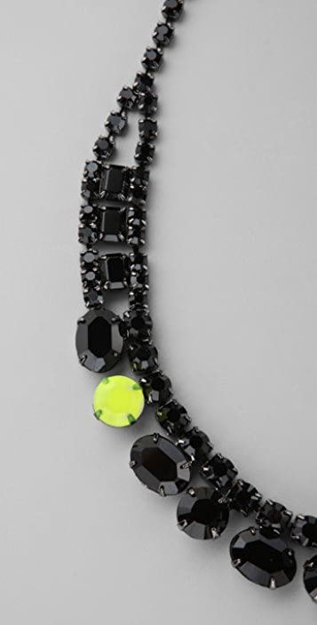 TOM BINNS Dumont Noir Fluorescent Necklace