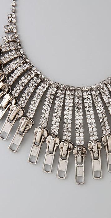 TOM BINNS Tough Chic Zipper Necklace