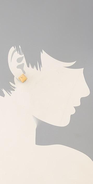 TOM BINNS Clash Chic Stud Earrings