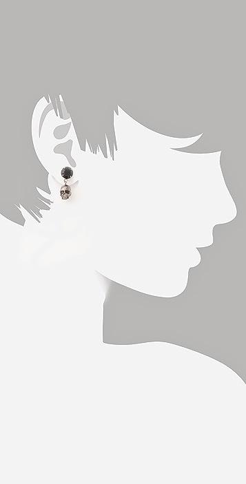 TOM BINNS Della Notte Crystal & Skull Earrings