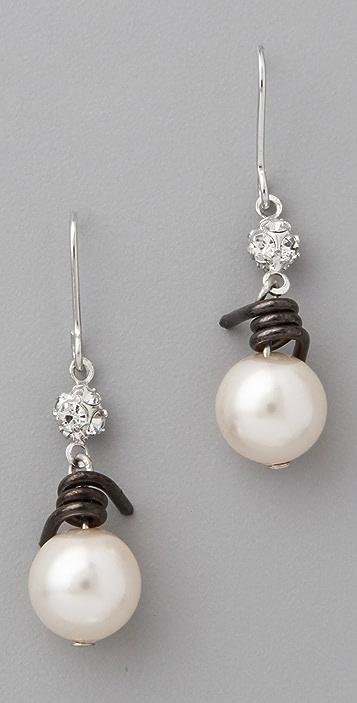 Tom Binns Jackie Ouch Barbwire Pearl Earrings Shopbop