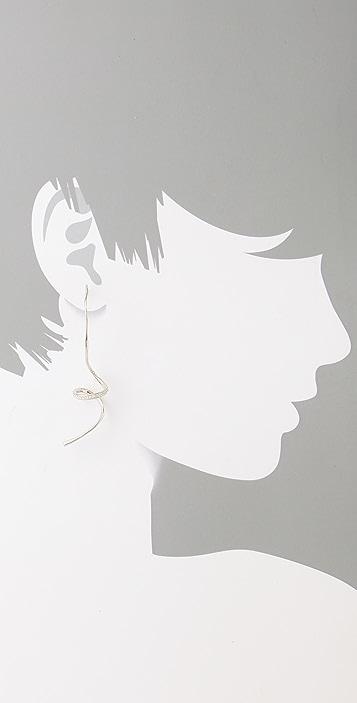 TOM BINNS Bejeweled Curly Earrings