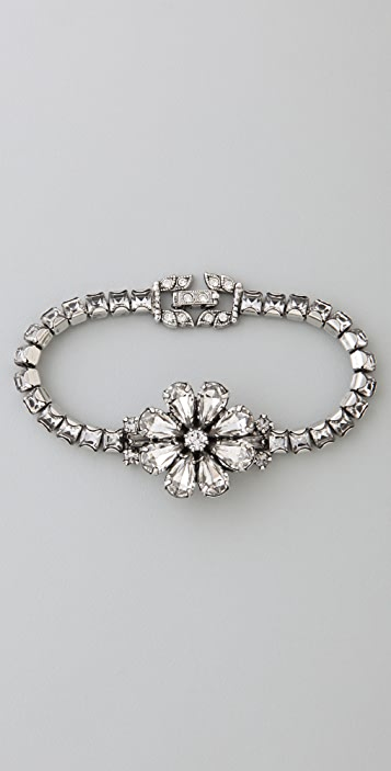 TOM BINNS Dumont Crystal Flower Bracelet