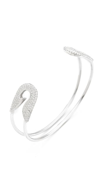 TOM BINNS Bejeweled Safety Pin Cuff