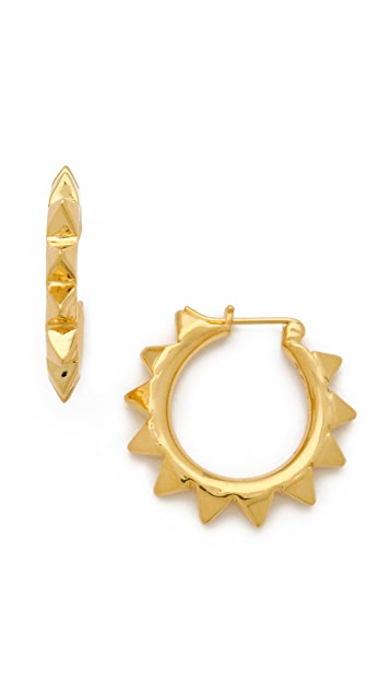 TOM BINNS Pyramid Studded Hoops