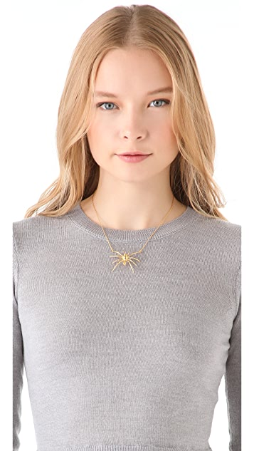 TOM BINNS Small Spider Pendant Necklace