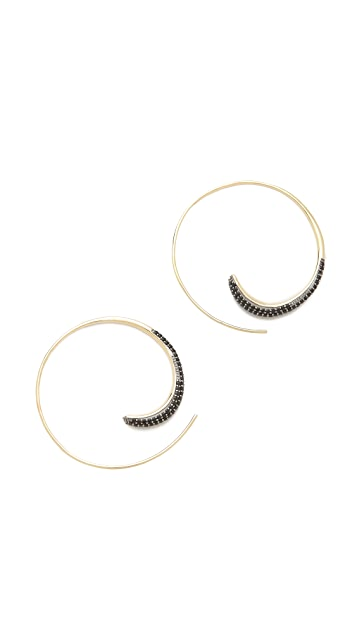 TOM BINNS Bejeweled Open Hoops