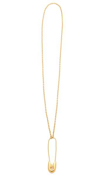 TOM BINNS Safety Pin Necklace