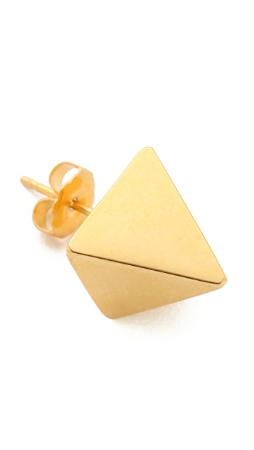 TOM BINNS Clash Pyramid Stud Earrings