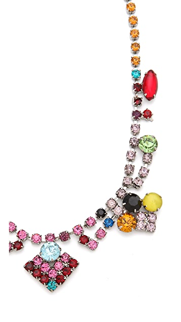 TOM BINNS Faux Real Multi Crystal Necklace