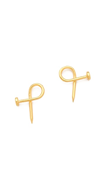 TOM BINNS Voila Puzzle Nail Earrings
