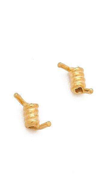 TOM BINNS Barricade Babe Mini Barbed Wire Stud Earrings