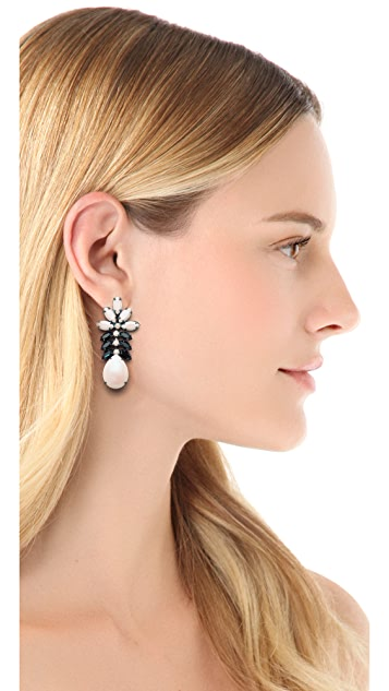 TOM BINNS Veil of Shadows Plume Earrings