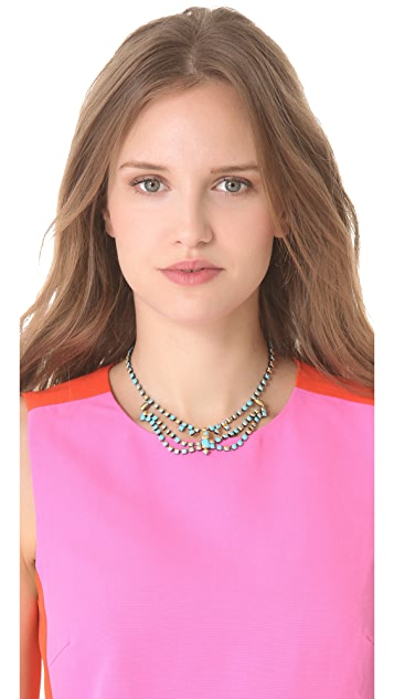 TOM BINNS Gilded Pleasure Multi Strand Necklace