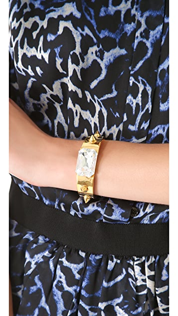TOM BINNS Spike & Crystal Cuff Bracelet