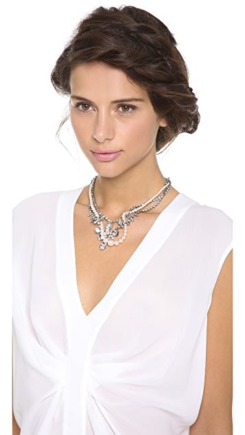 TOM BINNS Grande Dame Crystal Tangled Necklace