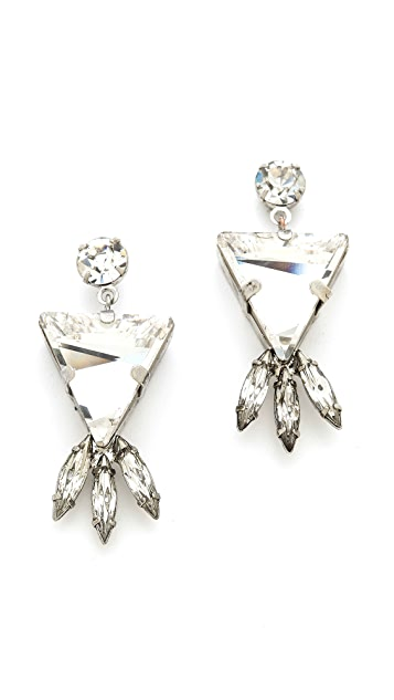 TOM BINNS Madame Dumont Stone Earrings
