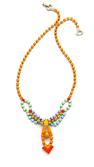 TOM BINNS Neon Crystal Necklace