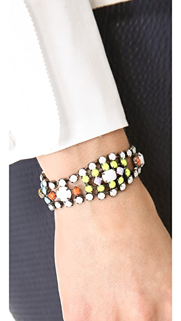 TOM BINNS Shadow Play Neon Crystal Bracelet