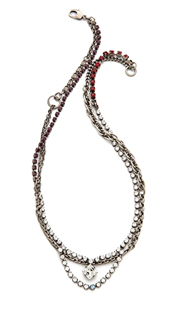 TOM BINNS Calamity Charm Chain Necklace