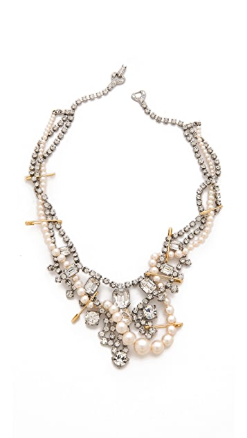 TOM BINNS Crystal Tangled Necklace