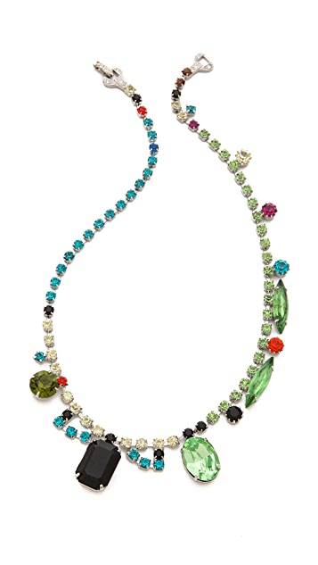 TOM BINNS Asymetric Crystal Necklace