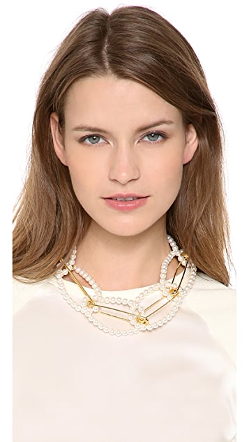TOM BINNS Looped Safety Pin Necklace