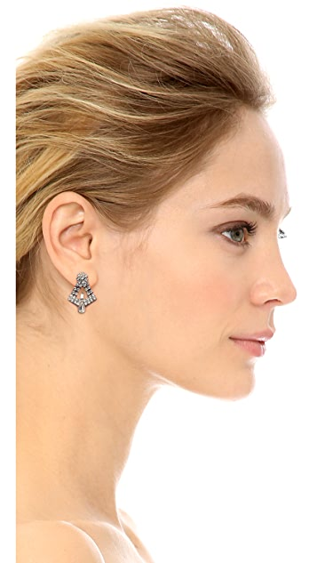 TOM BINNS Madame Dumont Teardrop Accent Earrings